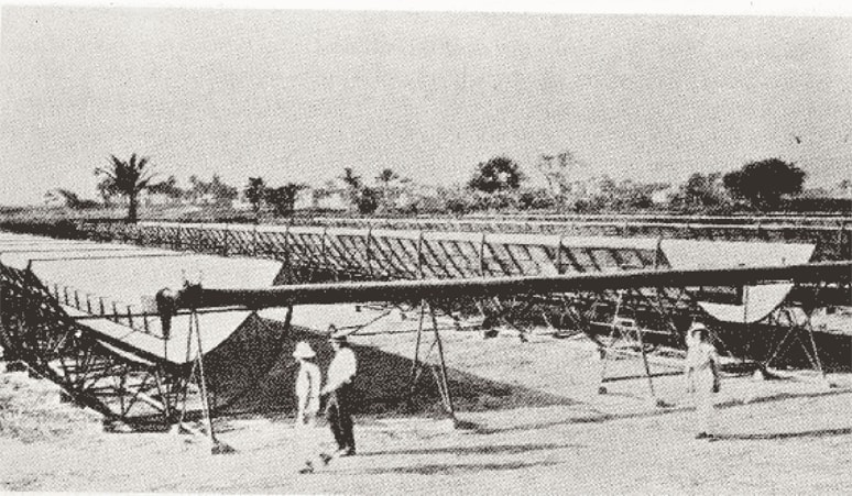 world saw the first solar panel plant